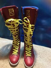 Puma First Round Tall High Shoes Boots Women's 8 1/2 Red Blue Unworn