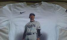 Nike Tampa Bay Rays White Longoria Graphic Cotton Tee T Shirt Size M, Medium
