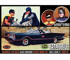 POLAR LIGHTS 1:25 MODEL KITS BATMAN CLASSIC TV SERIES BATMOBILE WITH FIGURES