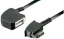 TAE F Telefon Verlängerung Kabel Verlängerungskabel 6 m Stecker> Buchse schwarz