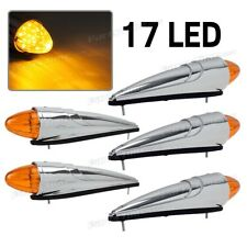 5x 17LED Amber Semi Truck Roof Cab Marker Clearance Light Assembly for Peterbilt