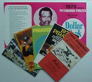 PITTSBURGH PIRATES POCKET SCHEDULES (6) 1974, 1975, 1977, 2000, 2001