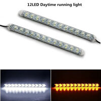 LED White to Amber Switchback Flexible Flow Turn Signal Arrow Flasher DRL Light