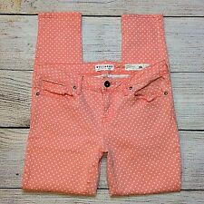 Bullhead Ankle Skinniest Jeans Size 9 Juniors Pink Polka Dot Stretch