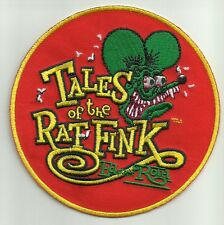 "OFFICIALLY LICENSED ED ""BIG DADDY"" ROTH TALES OF THE RAT FINK HOT ROD PATCH RED"