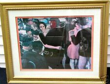 "LARGE-28"" x 34""/GOLD GILDED-WOODEN FRAMED-ARTWORK/JAZZ NIGHT CLUB-PRINT/DANCING"