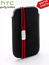 Custodia cover case ORIGINALE nera PO S800 per HTC DESIRE X Slip Pouch sacchetto