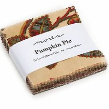 "Pumpkin Pie Prints Mini 2.5"" Charm Pack by Laundry Basket Quilts for Moda"