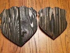 "Two "" Barnwood "" Deer Antler Mounting Plaque sizes 10-1/2"" & 7-3/4"" tall Rustic"