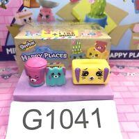 Shopkins Happy Place Home Collection - Mini Bin #256, Tissue #273, T. Box  #292