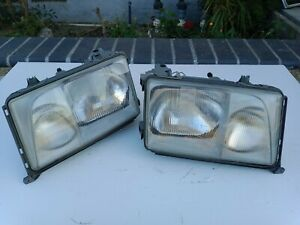 93-95 Mercedes Benz W124 OEM headlights E320 E420 pair by BOSCH