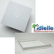 CHIUSINO POZZETTO TOMBINO PLASTICA TELAIO E COPERCHIO IN PVC CM.25x25, DIELLE