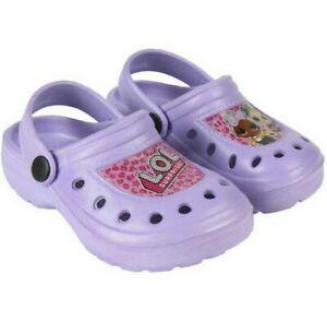 BNWT LOL Surprise clog girls kids summer sandals lilac purple 12 EU 30