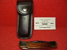 SCHRADE USA 1977-2002  LB7--WOOD--LARGE LOCK BACK--W22521--& LEATHER SHEATH