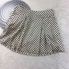 Forever 21 Womens Pleated Polka Dot Mini Skirt Casual A Line Size XS