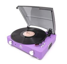 GPO Stylo II 3 Speed Turntable in Rubberised Lilac With Built In Speakers