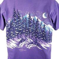 Ski Vail Colorado T Shirt Vintage 90s Downhill Skiing Oneita Made In USA Large