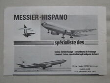 12/1973 PUB MESSIER HISPANO AIRBUS A300 MERCURE AIR INTER ORIGINAL FRENCH AD