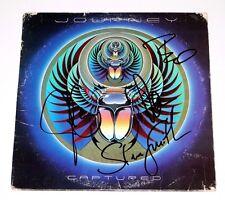 JOURNEY BAND SIGNED 'CAPTURED' VINYL ALBUM COVER X4 w/COA PROOF NEAL SCHON SMITH