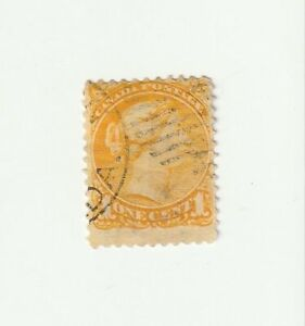 Canada 1870 1c Yellow QV Used Stamp