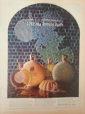 1968 L'Air Du Temps Nina Ricci Perfume Bath Oil Dusting Powder Fragrance Ad