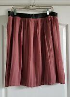 Mossimo Pleated Blush/Mauve Skirt Plus Size 16 NWT