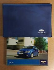 CHEVROLET KALOS HANDBOOK OWNERS MANUAL WALLET 2005-2007 PACK 8379