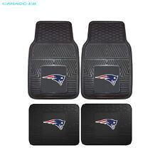 NEW 4pcs NFL New England Patriots Car Truck Front Back 3-D Rubber Floor Mats Set