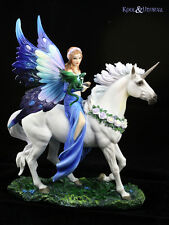 Realm of Enchantment Fairy Riding Unicorn With Baby Dragon Ornament Anne Stokes