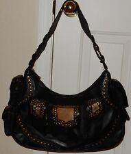 Treesje Black Studded Western Look Handbag Purse  Bag
