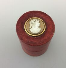 More details for antique cased medicine glass with cameo