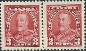 Canada   # 219 Pair   KING GEORGE V PICTORIAL    New Issue 1935 Pristine Gum