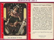 864 SANTINO HOLY CARD REGINA SACRATISSIMI ROSARI ROSARIO DI POMPEI