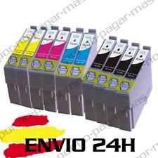 10 CARTUCHOS TINTA COMPATIBLE NO-OEM EPSON STYLUS SX125 SX130 T1285 24H