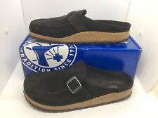 BIRKENSTOCK Women Buckley Black Suede Mule Shoes Sz 10 EU41 N ZB6-1376