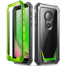 Moto G7 Play Rugged Clear Case,Poetic® Hybrid Shockproof Bumper Cover Green