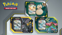 Pokemon TCG Tag Team Tins Set of 3 Pikachu & Zekrom GX Celebi & Venusaur