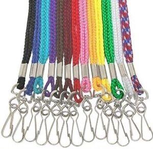 Single Braided Nylon Neck Strap Lanyard ~ U Pick Color~ $3.50 ships any Quantity