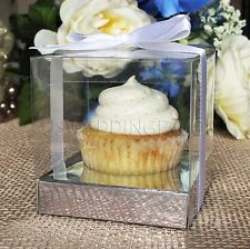 25pcs Clear Cupcake Muffin Cake Boxes Party Shower Favor Gift Container 3.5""
