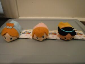 Disney Tsum Tsum Mini Plush Peter Pan Lot of 3 - Tiger Lily Mike Wendy Darling