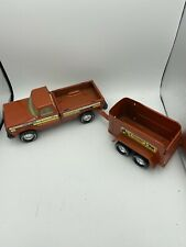 Nylint Pressed Steel Horse Ranch Pick Up Truck With Trailer 1970's Vintage