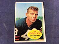 O4-83 FOOTBALL CARD - JIM DOOLEY CHICAGO BEARS - 1960 TOPPS - CARD #15
