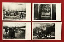 4 x Militär Feldpost AK RUSSLAND 1. WK 1917 Schanzarbeiter, Feldaltar  ( 77077