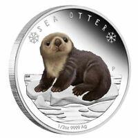 2017 Tuvalu Polar Babies 1/2oz Silver Proof Coin - Sea Otter