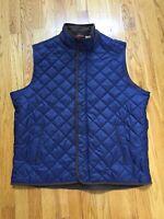 Peter Millar Essex Quilted Traveler Puffer Vest Blue XL Mint!