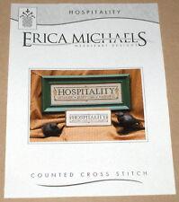 "Erica Michaels ""Hospitality"" Cross Stitch Pattern - Welcome Generosity Kindness"