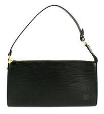 LOUIS VUITTON Black Epi Leather POCHETTE ACCESSOIRES 24 Shoulder Bag