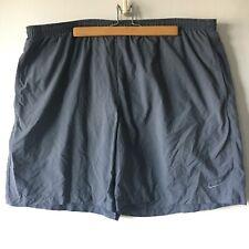 Nike Gray Drawstring Dri Fit Running Shorts Lined Inner Briefs Pocket Drawstring