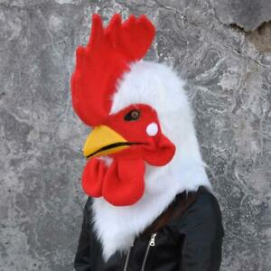 Can Move Mouth Rooster Mascot Costume Fursuit Cosplay Fancy Dress Animal Parade