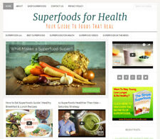 * SUPERFOODS * health blog niche website business for sale AUTOMATIC CONTENT!